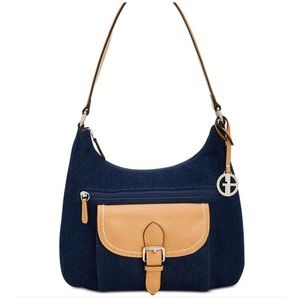 Gianni Bernini Denim Hobo Purse. NWT